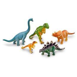 Set 5 figurine mari de jucarie pentru copii, aspect realistic, Learning Resources - Dinozauri