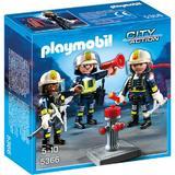 Playmobil City Action - Set figurine Playmobil- Echipa de pompieri + 4 ani