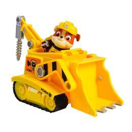 Set vehicul cu figurina Patrula catelusilor Rubble si buldozerul Nebunici