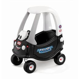 Masinuta fara pedale pentru copii, masina de politie Cozy Little Tikes, scaun inalt si spatiu de depozitare