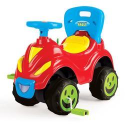 Masina din plastic cu pedal si spatar pentru copii Nebunici