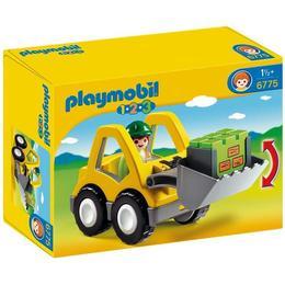 Playmobil 1.2.3 - Excavator cu figurina sofer