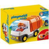 Playmobil 1.2.3 - Camion reciclare deseuri cu figurina sofer