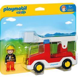 Playmobil 1.2.3 - Masina de pompieri cu figurina sofer