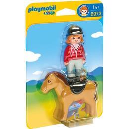 Playmobil 1.2.3 - Set figurine Femeia si calutul