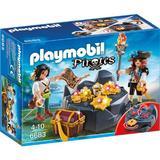 Playmobil Pirates -  Set constructie cu figurine - Piratii si comoara descoperita