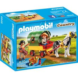 Playmobil Country - Set constructii cu figurine - Trasura si poneiul 4 ani +