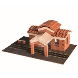 Set constructie din caramizi ceramice - Gara, 160 caramizi ceramice Nebunici