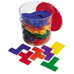 Jucarie educativa Learning Resources - Piese tip tetris curcubeu pentru copii 72 piese