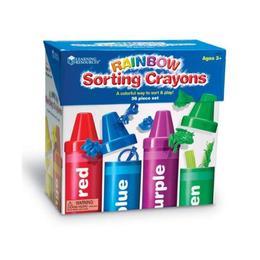 Set sortare, numarare, invatarea culorilor Nebunici - Tuburi creioane Curcubeu Learning Resources