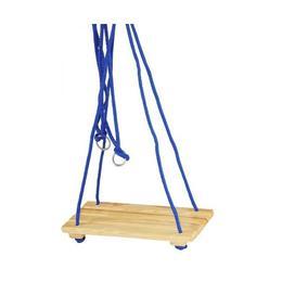 Leagan simplu cu suport sezut din lemn pentru copii Nebunici