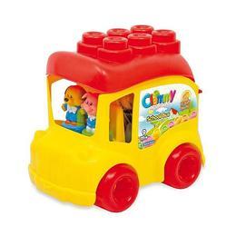 Clemmy - autobuz scolar cu 12 cuburi - Clementoni