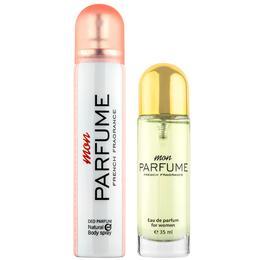 Set Cadou Lucky Mon Parfume pentru Femei - Apa de Parfum 35ml + Parfum Deodorant 85ml