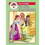 Fata babei si fata mosneagului - Ion Creanga - Carte de colorat, editura Andreas