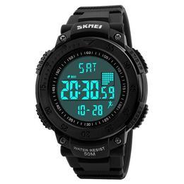 Ceas Barbatesc SKMEI CS878, curea silicon, digital watch, functie cronometru, alarma
