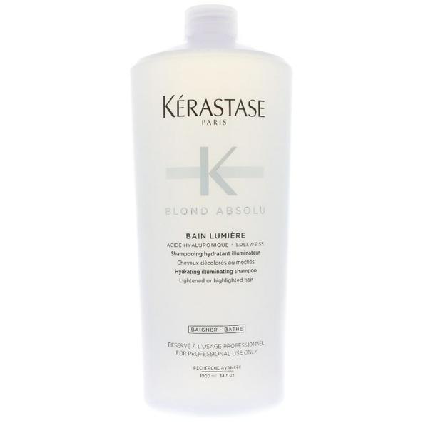 Sampon Hidratant Iluminator pentru Par Blond - Kerastase Blond Absolu Bain Lumiere Hydrating Illuminating Shampoo, 1000ml