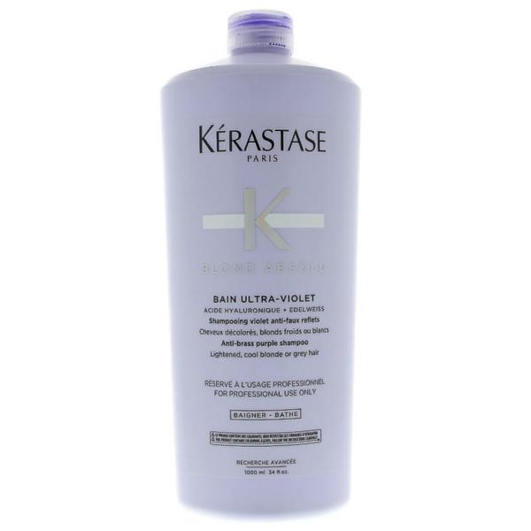 Sampon Violet pentru Neutralizarea Tonurilor Galbene - Kerastase Blond Absolu Bain Ultra-Violet Anti-Brass Purple Shampoo, 1000ml esteto.ro