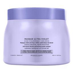 Masca Violet pentru Neutralizarea Tonurilor Galbene – Kerastase Blond Absolu Masque Ultra-Violet Anti-Brass Blonde Perfecting Purple Masque, 500ml de la esteto.ro