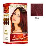 Vopsea pentru Par Rosa Impex Prestige Deluxe, nuanta 555 Ruby Red