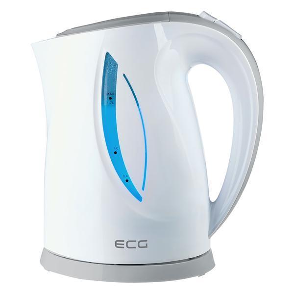 Cana electrica fierbator ECG RK 1758 gri, 1,7 L, 2000 W, plastic de calitate BPA FREE