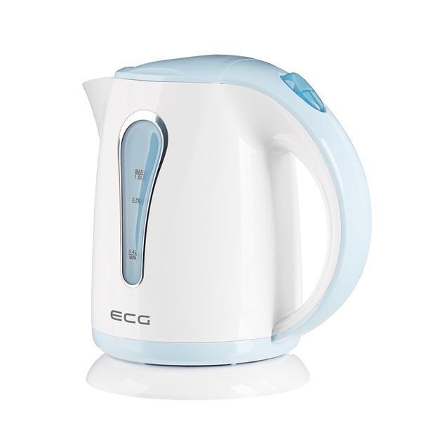 Cana electrica fierbator ECG RK 1022 bleu, 1 L, 1100 W, plastic de calitate BPA FREE
