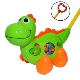 Jucarie de impins Dinozaur cu forme - Robentoys