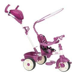 Tricicleta sport 4 in 1 (roz cu alb) - Little Tikes