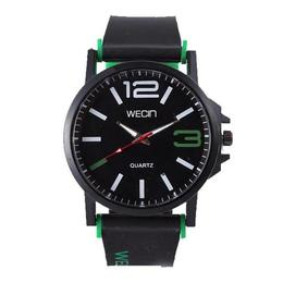 Ceas Barbatesc, Wecin CS893, model army verde, curea silicon, stil sport