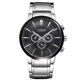Ceas Barbatesc Curren CS868, Fashion & Casual, Rezistent la apa, Otel inoxidabil, Calitate premium, Argintiu