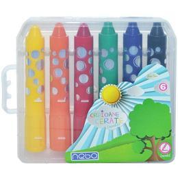 Creioane cerate lavabile Jumbo Set 6 - Nebo