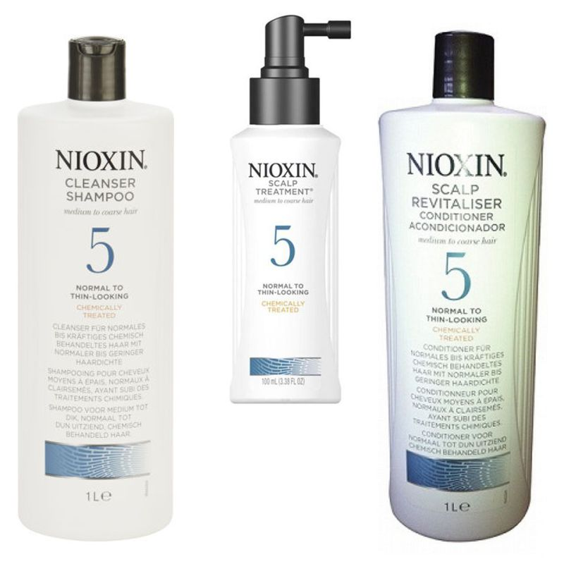 Nioxin - Pachet Maxi System 5 pentru parul normal, subtiat, spre aspru, cu aspect natural sau vopsit
