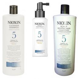 Nioxin – Pachet Maxi System 5 pentru parul normal, subtiat, spre aspru, cu aspect natural sau vopsit de la esteto.ro