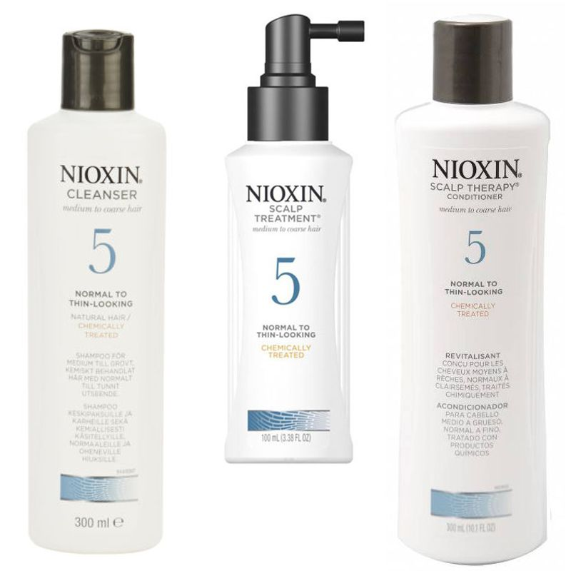 Nioxin - Pachet Medium System 5 pentru parul normal, subtiat, spre aspru, cu aspect natural sau vopsit esteto.ro