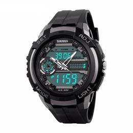 Ceas Barbatesc SKMEI CS899, curea silicon, digital watch, Functii- alarma, ora, cadran luminat, rezistent 3ATM, negru