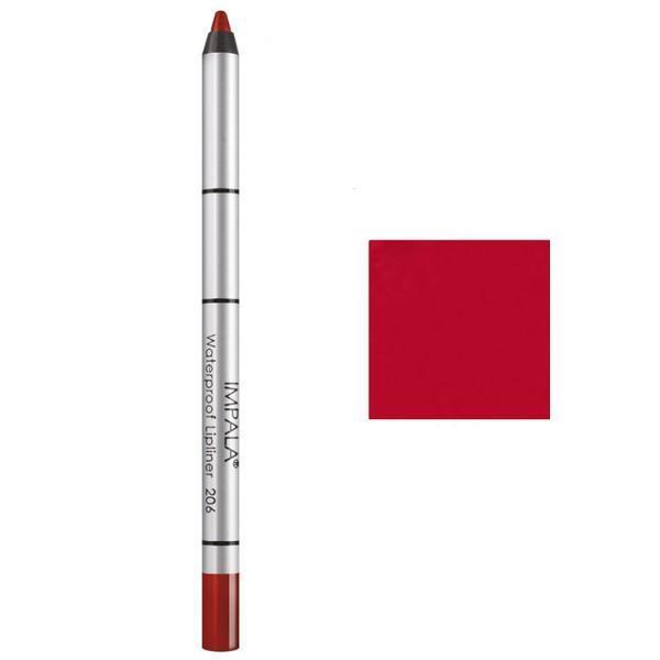 Creion Contur Buze Rezistent la Apa Impala, nuanta 206 Intense Red imagine produs