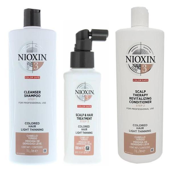 Nioxin - Pachet Maxi System 3 pentru parul cu tendinta notabila de subtiere, fin si vopsit poza