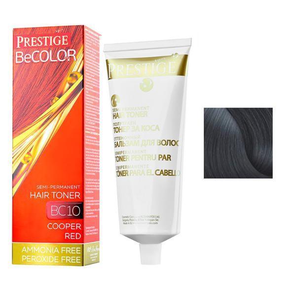 Vopsea de Par Semi-Permanenta Rosa Impex Prestige VIP's BeColor Hair Toner, nuanta BC01 Black Diamond, 100ml imagine produs