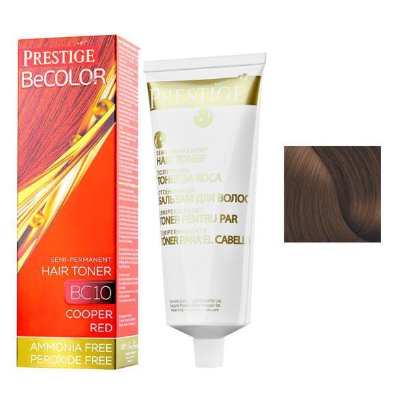 Vopsea de Par Semi-Permanenta Rosa Impex Prestige VIP's BeColor Hair Toner, nuanta BC04 Caramel Brown, 100ml imagine produs