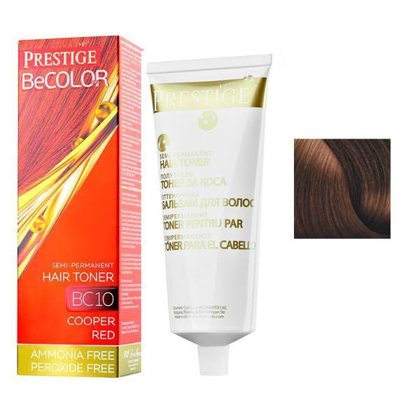 Vopsea de Par Semi-Permanenta Rosa Impex Prestige VIP's BeColor Hair Toner, nuanta BC05 Dark Chestnut, 100ml imagine produs