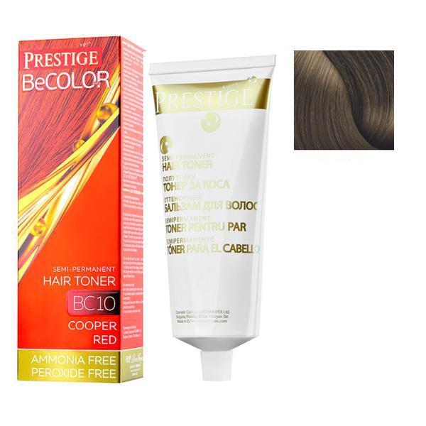Vopsea de Par Semi-Permanenta Rosa Impex Prestige VIP's BeColor Hair Toner, nuanta BC06 Natural Coffee, 100ml imagine produs