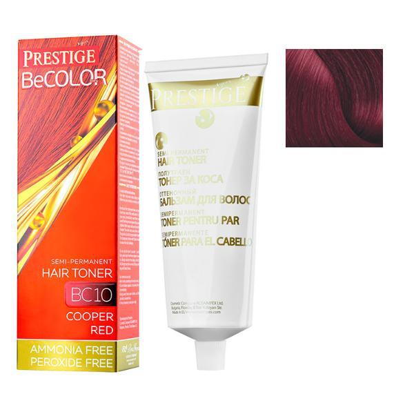 Vopsea de Par Semi-Permanenta Rosa Impex Prestige VIP's BeColor Hair Toner, nuanta BC07 Coral Mahogany, 100ml imagine produs
