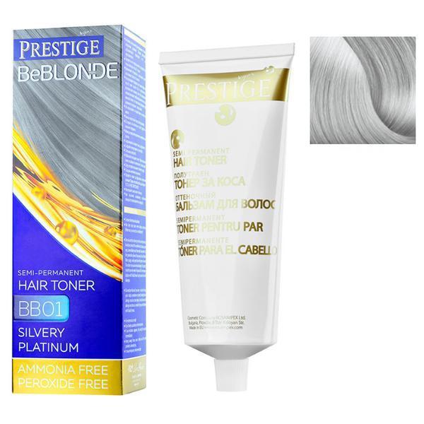 Vopsea de Par Semi-Permanenta Rosa Impex Prestige VIP's BeBlonde Hair Toner, nuanta BB02 Silver Effect, 100ml imagine produs