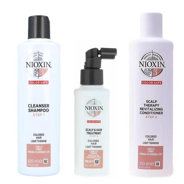 Nioxin - Pachet Medium System 3 pentru parul cu tendinta notabila de subtiere, fin si vopsit