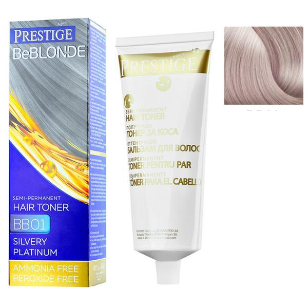 Vopsea de Par Semi-Permanenta Rosa Impex Prestige VIP's BeBlonde Hair Toner, nuanta BB03 Icy Dawn, 100ml imagine produs