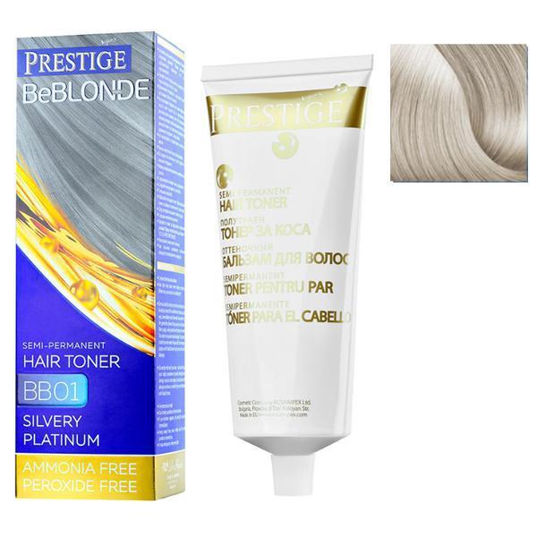 Vopsea de Par Semi-Permanenta Rosa Impex Prestige VIP's BeBlonde Hair Toner, nuanta BB04 Pearl, 100ml imagine produs