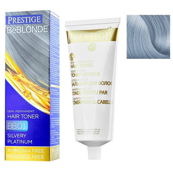 Vopsea de Par Semi-Permanenta Rosa Impex Prestige VIP's BeBlonde Hair Toner, nuanta BB05 Northern Lights, 100ml imagine produs
