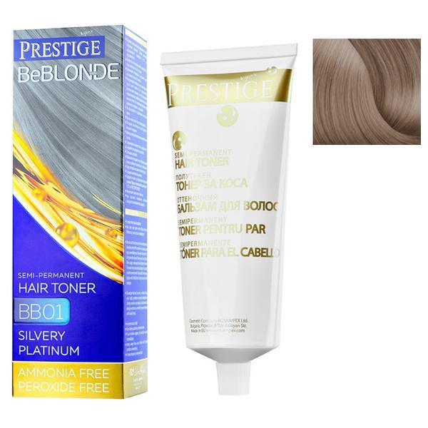 Vopsea de Par Semi-Permanenta Rosa Impex Prestige VIP's BeBlonde Hair Toner, nuanta BB06 Caffe Latte, 100ml imagine produs