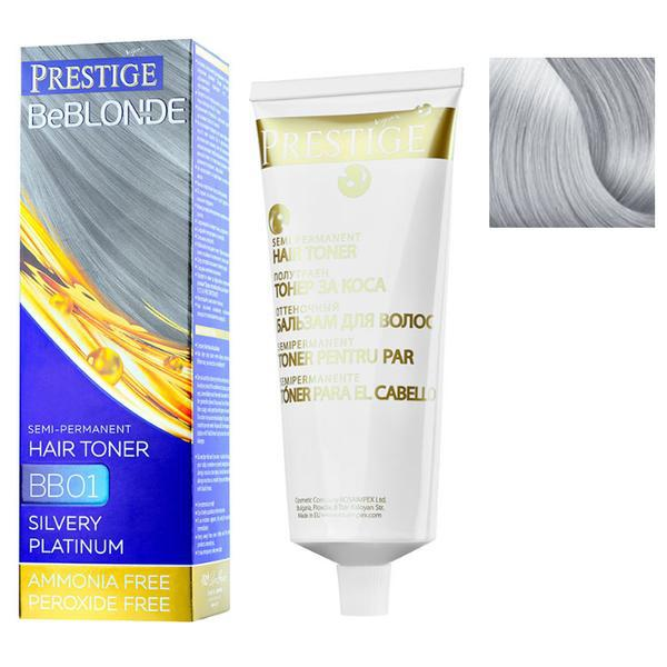 Vopsea de Par Semi-Permanenta Rosa Impex Prestige VIP's BeBlonde Hair Toner, nuanta BB07 Cool Vanilla, 100ml imagine produs