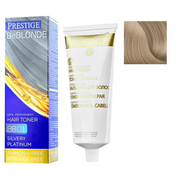 Vopsea de Par Semi-Permanenta Rosa Impex Prestige VIP's BeBlonde Hair Toner, nuanta BB08 Sparkling Titanium, 100ml imagine produs