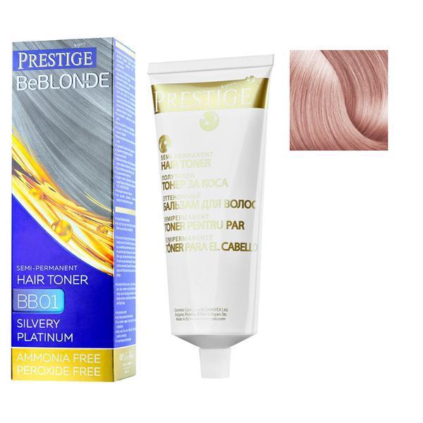 Vopsea de Par Semi-Permanenta Rosa Impex Prestige VIP's BeBlonde Hair Toner, nuanta BB09 Rose Pearl, 100ml imagine produs